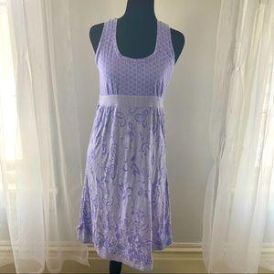 Athleta light purple fitted flower print dress